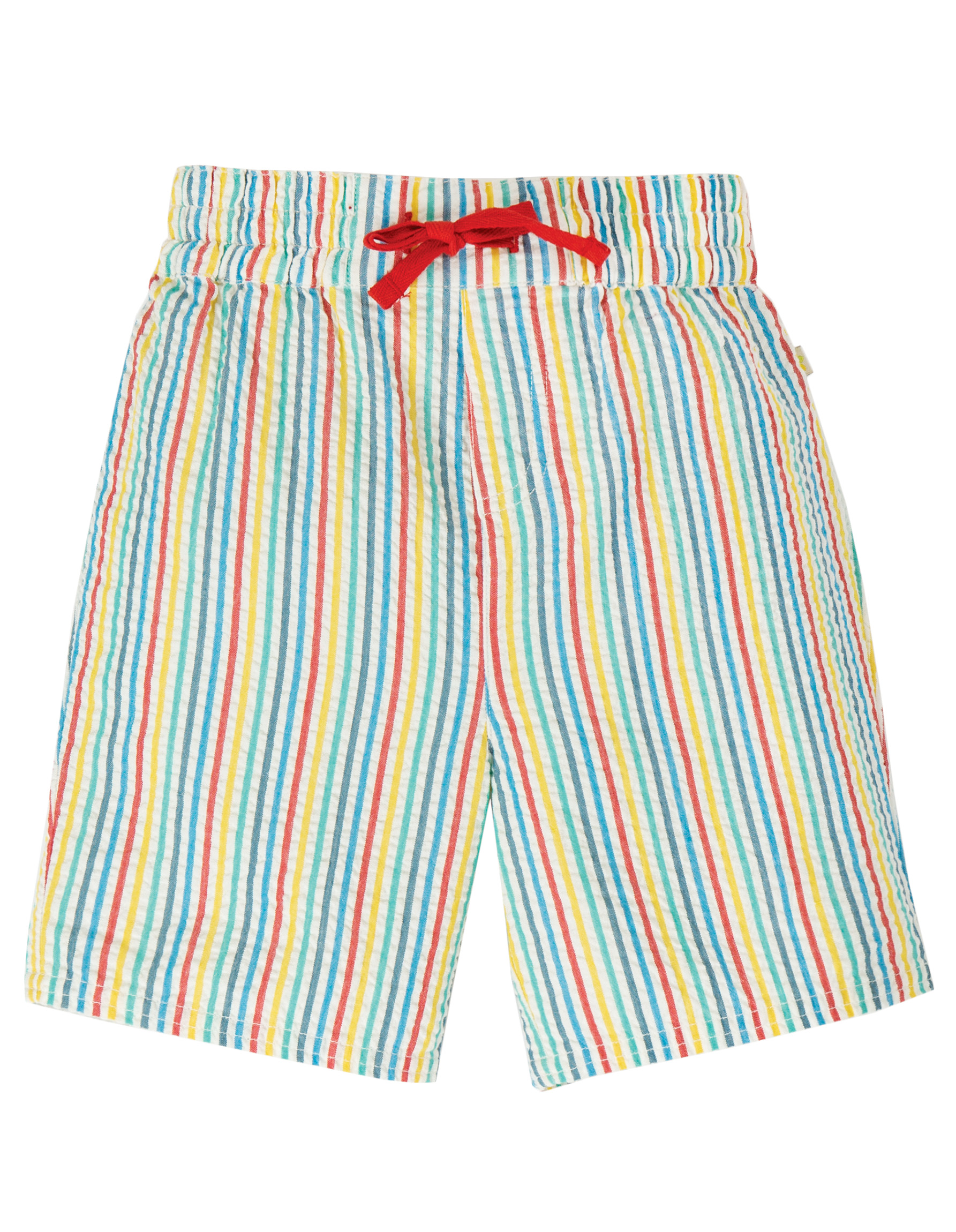 Frugi Akiara Shorts, Multi Seersucker Stripe