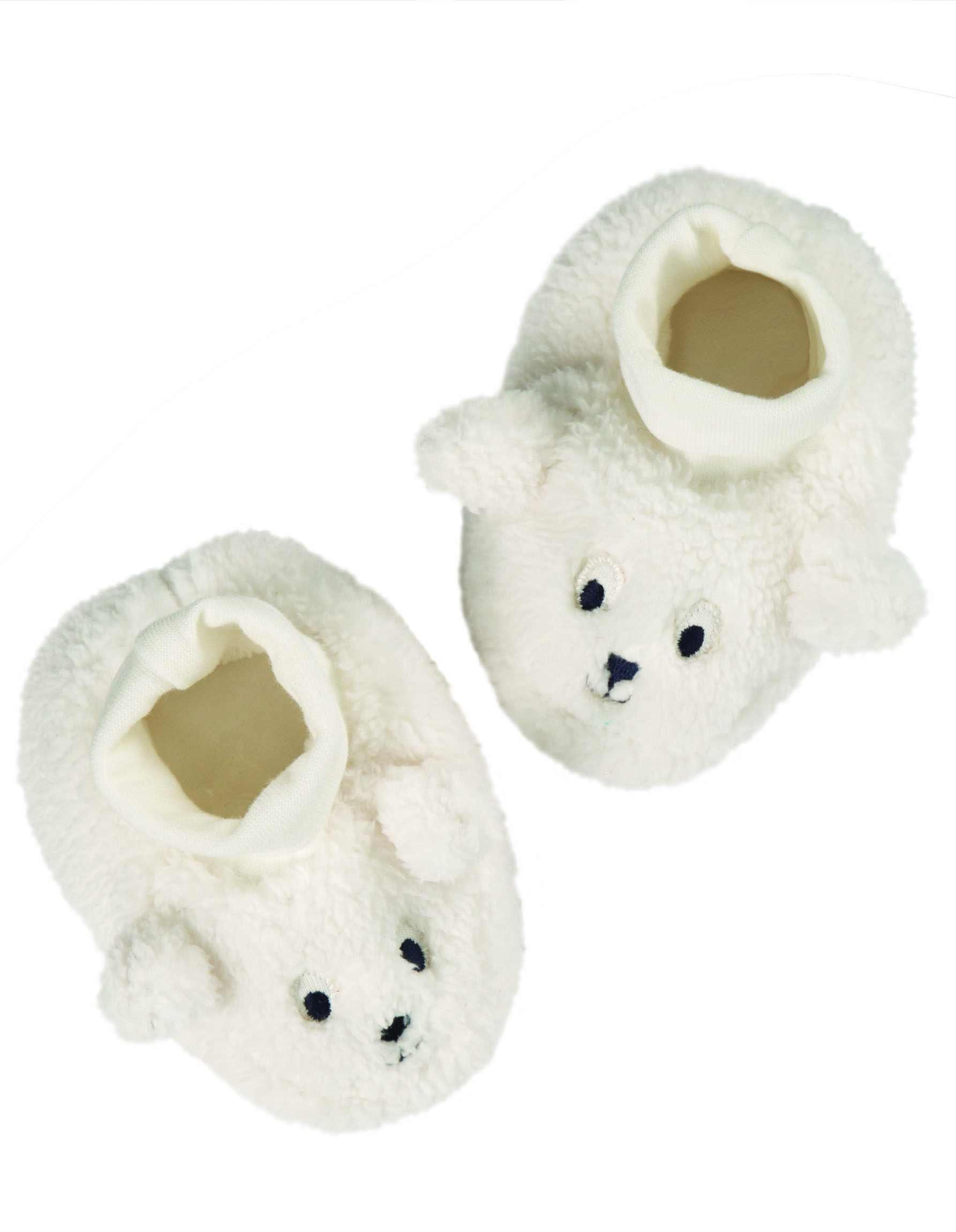 Frugi Cosy Booties, Soft White/Sheep