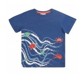 Piccalilly Sea Waves T-Shirt
