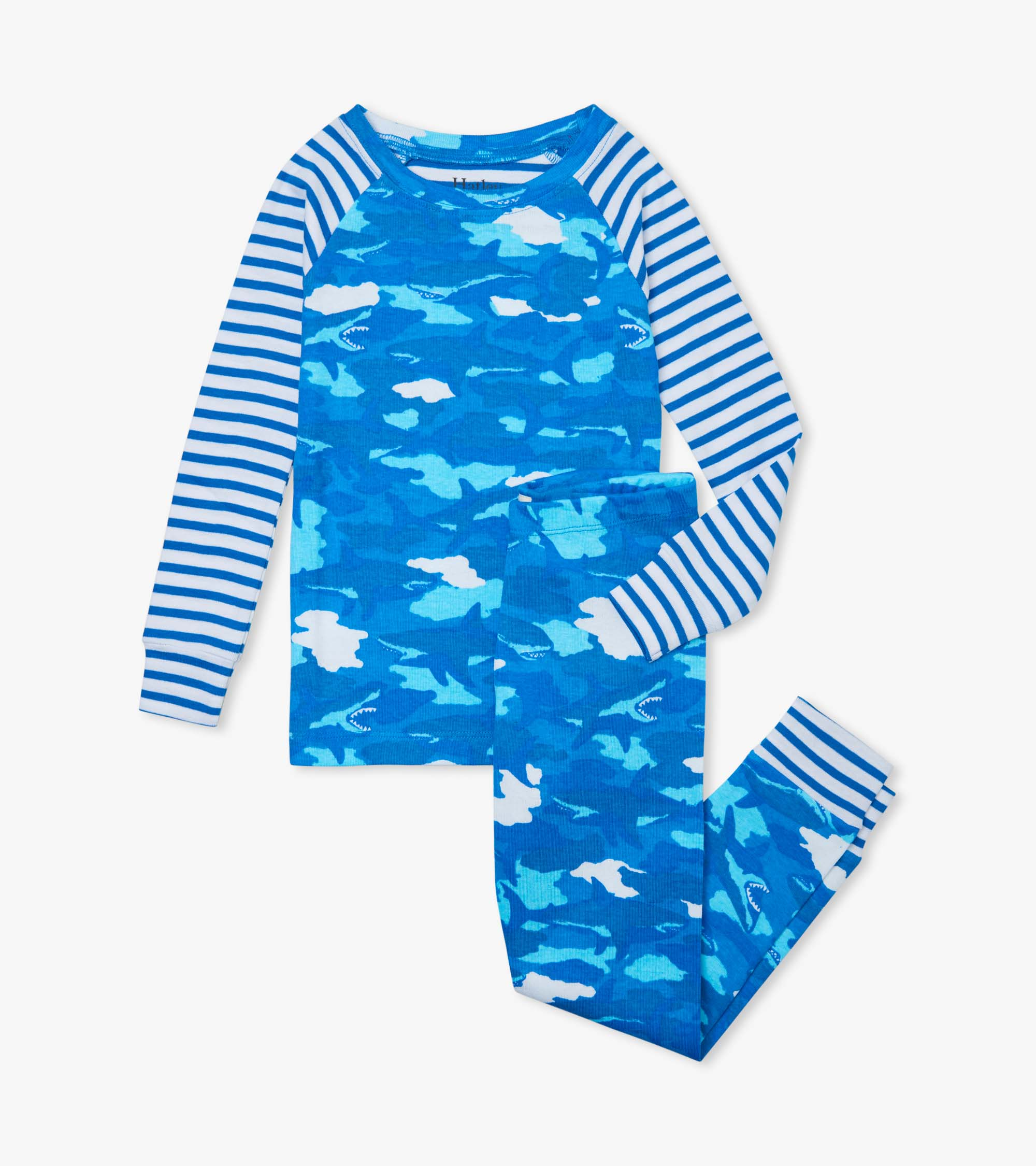 Hatley Shark Camo Organic Cotton Ragland Pyjama Set
