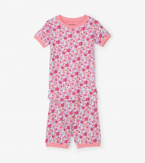 Hatley Summer Garden Organic Cotton Short Pyjama Set