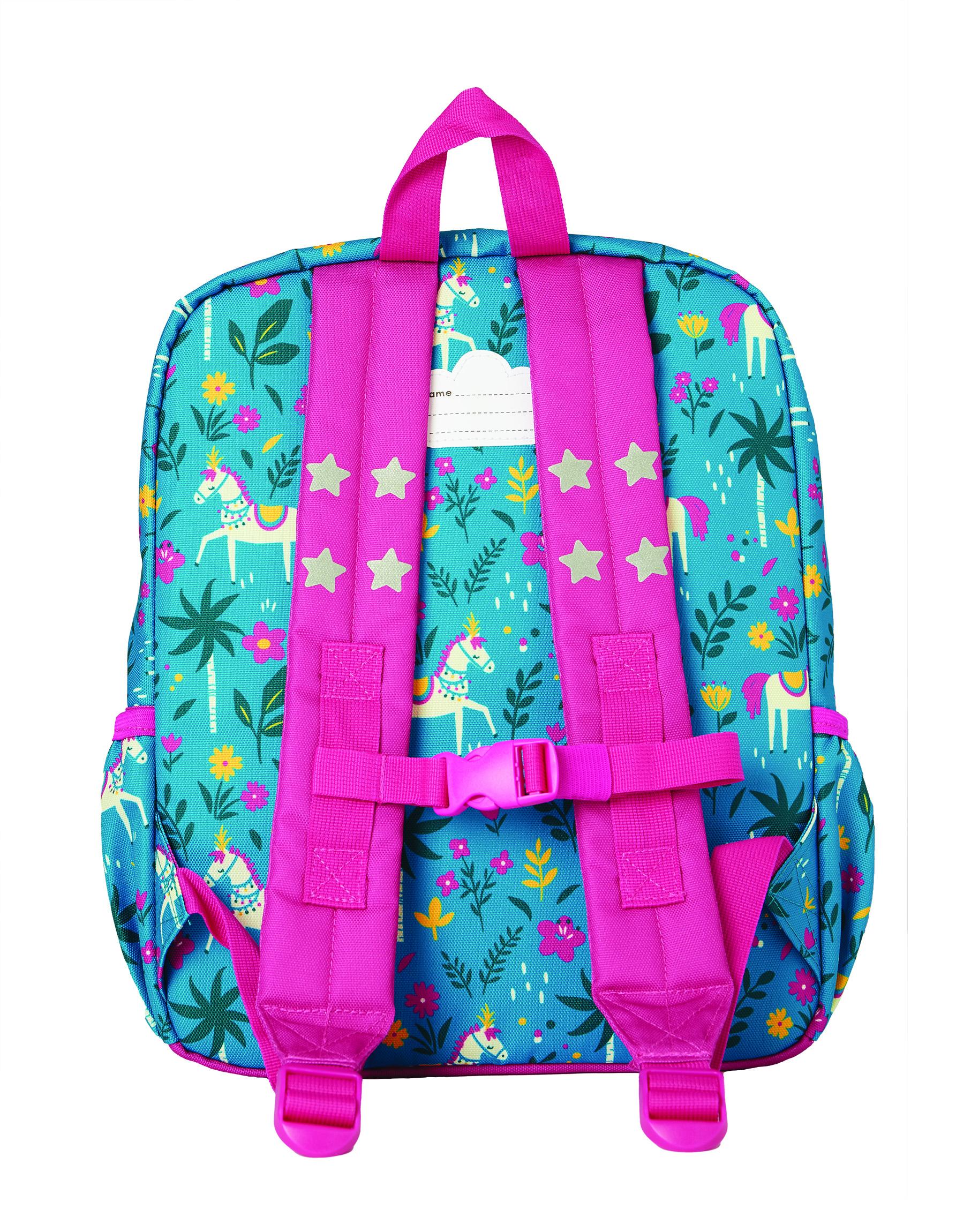 Frugi Adventurers Backpack, Teal Indian Horse