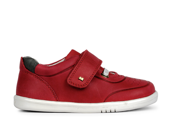 Bobux IW Ryder Trainer Red + Charcoal