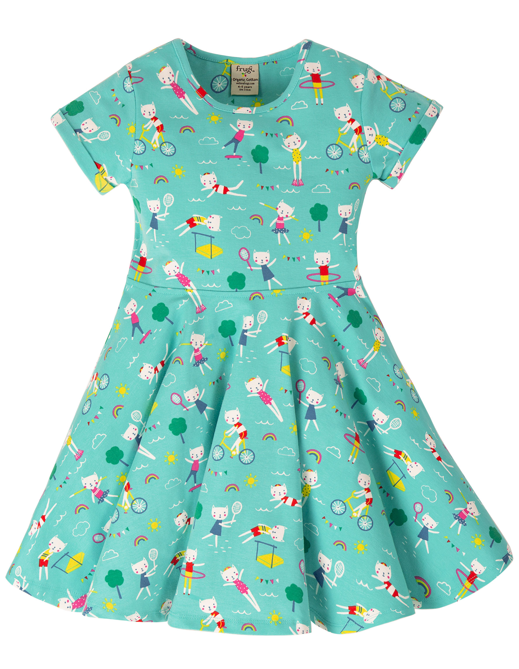 Frugi Spring Skater Dress, Fun at the Games