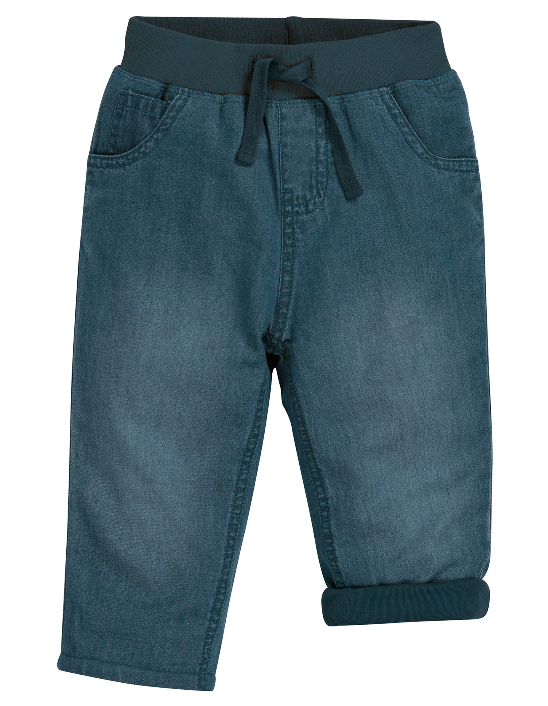 Frugi Comfy Lined Jeans, Chambray