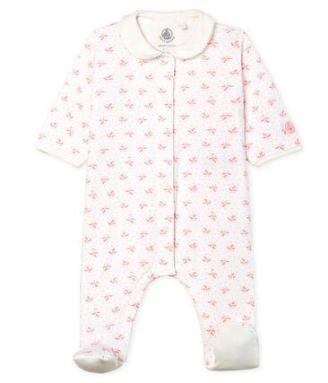 Petit Bateau Pink Leaf Sleepsuit