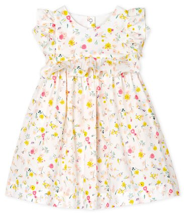 Petit Bateau Yellow Summer Flowers Dress