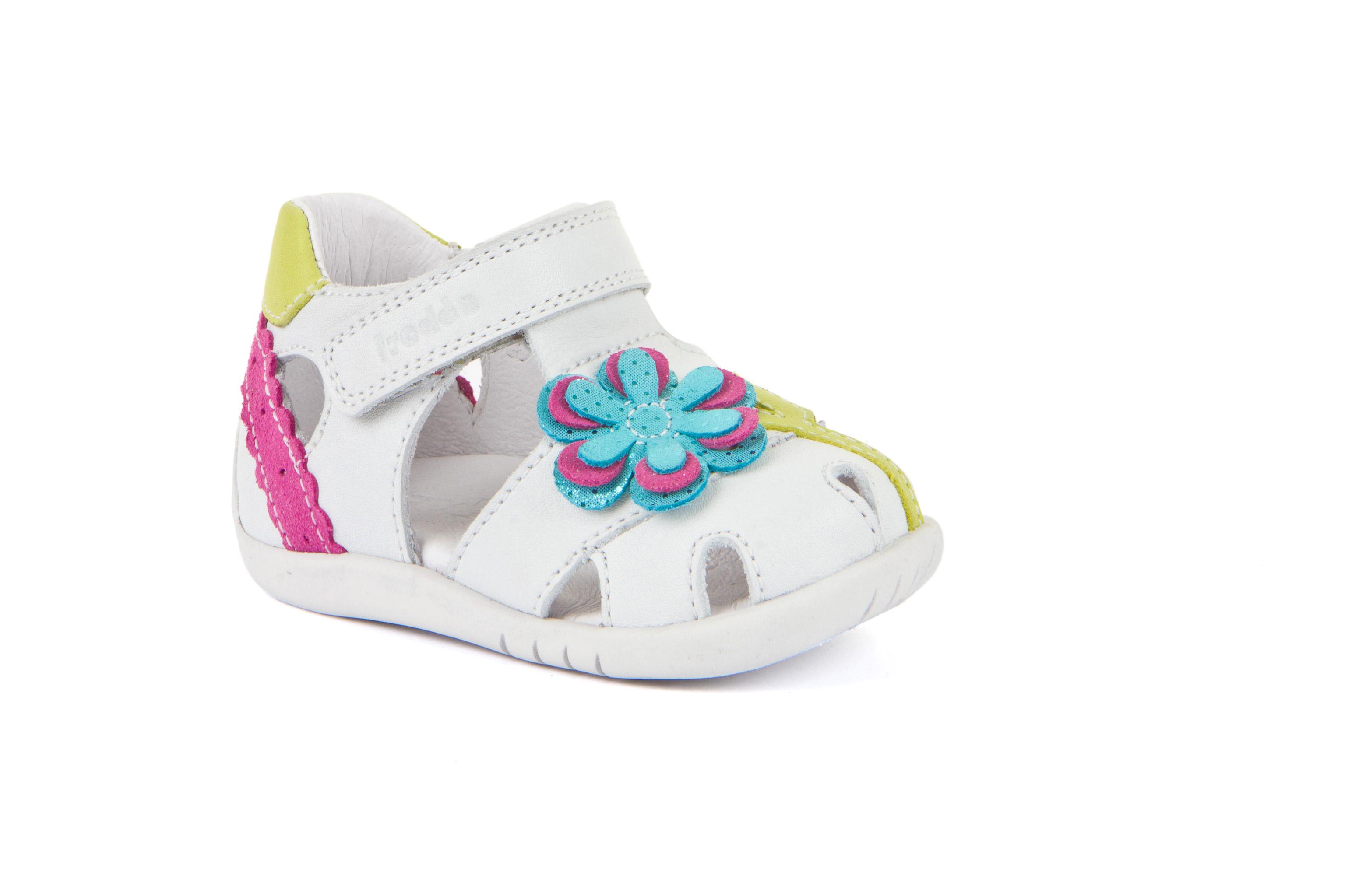 Froddo Bambi Step White Flower Sandal G2150140-2