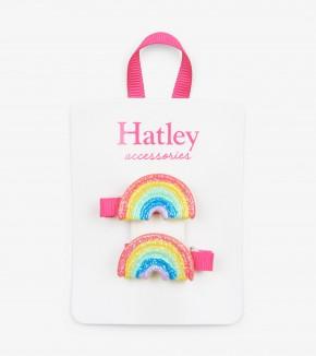 Hatley Double Rainbow Hair Clips
