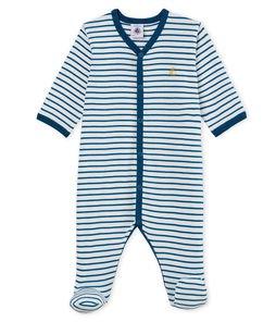 Petit Bateau Blue Stripe Sleepsuit