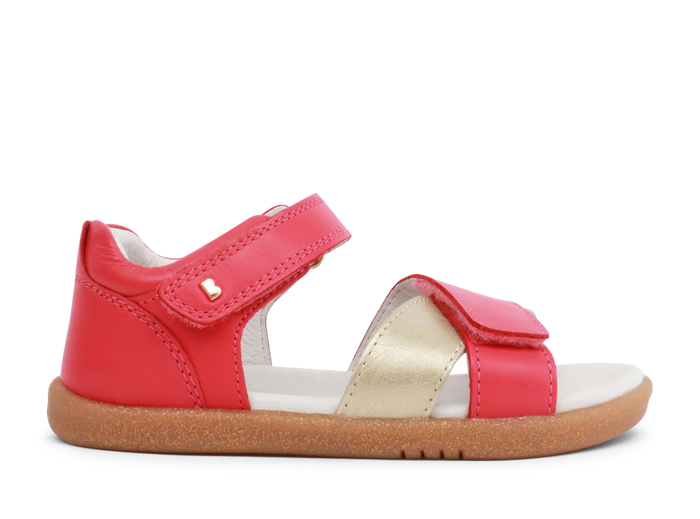 Bobux IW Sail Open Sandal Strawberry + Gold