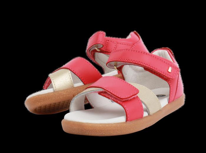 Bobux IW Sail Open Sandal Strawberry + Gold