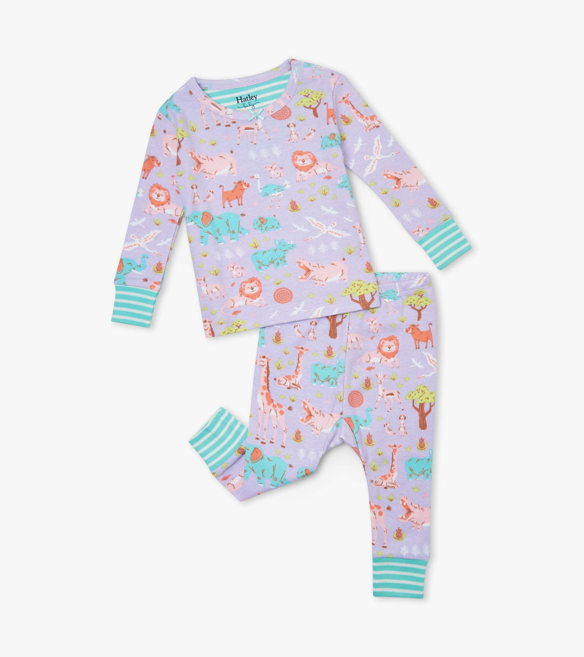 Hatley Safari at Dusk Organic Cotton Baby Pyjama Set