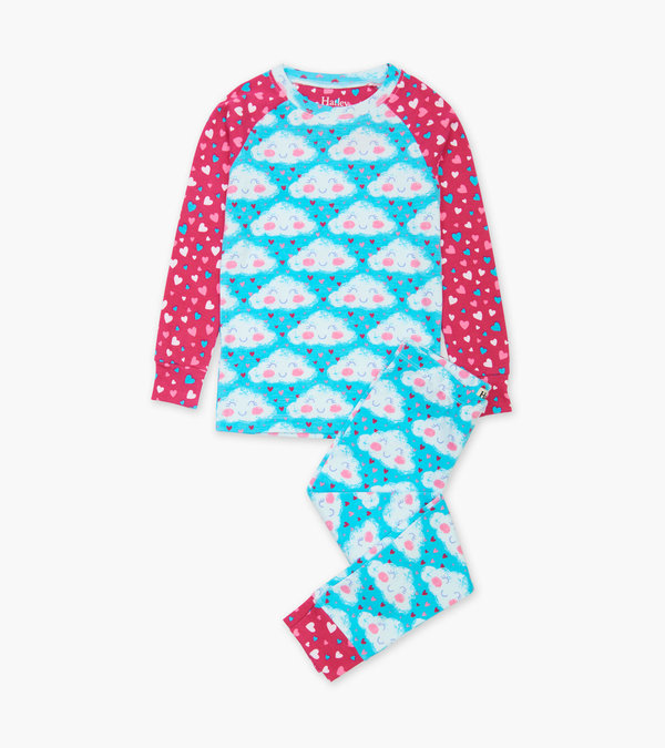 Hatley Cheerful Clouds Organic Cotton Pyjamas