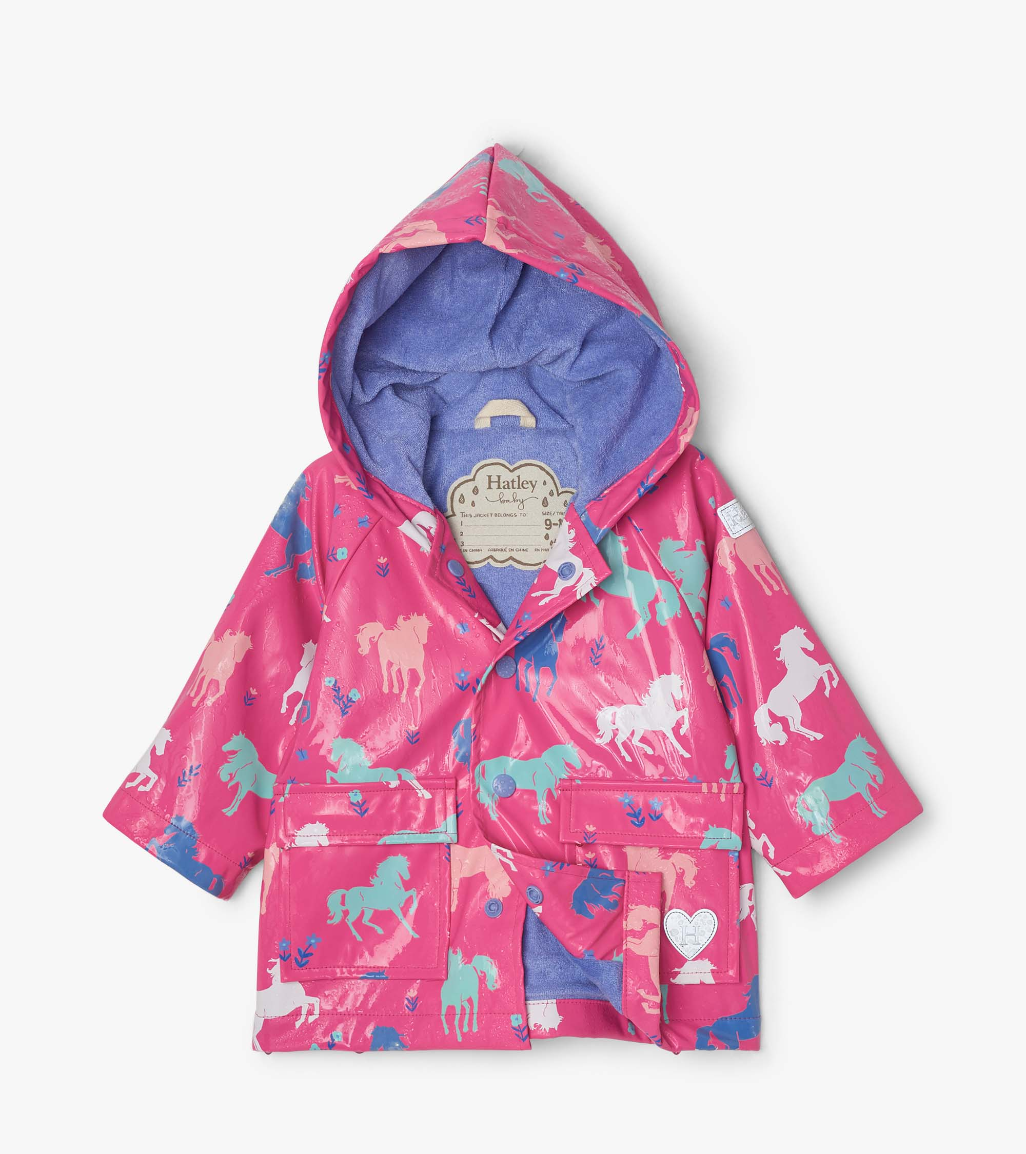 Hatley Painted Pasture Colour Changing Baby Raincoat