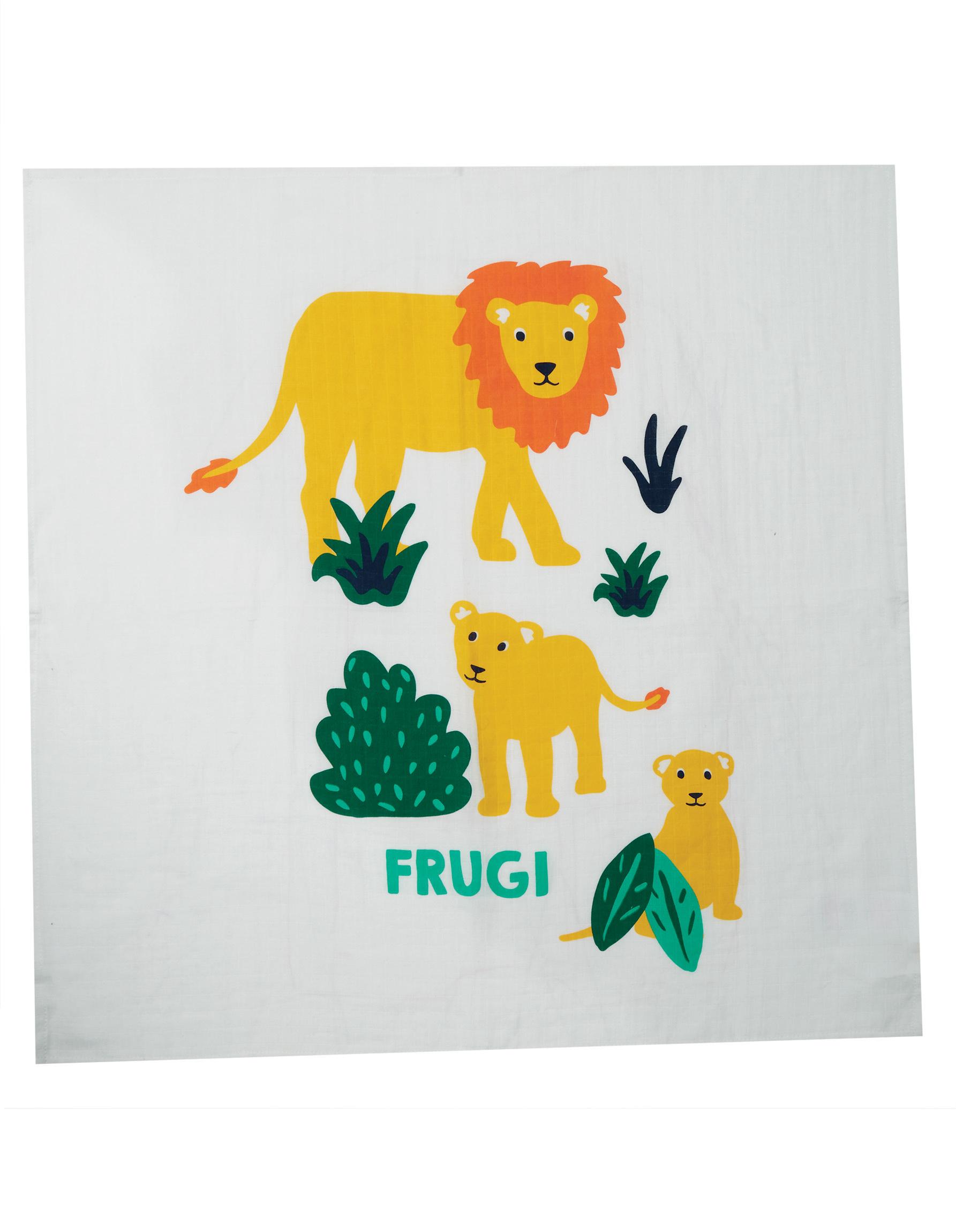 Frugi Lovely 2 Pack Muslin, Big Cat