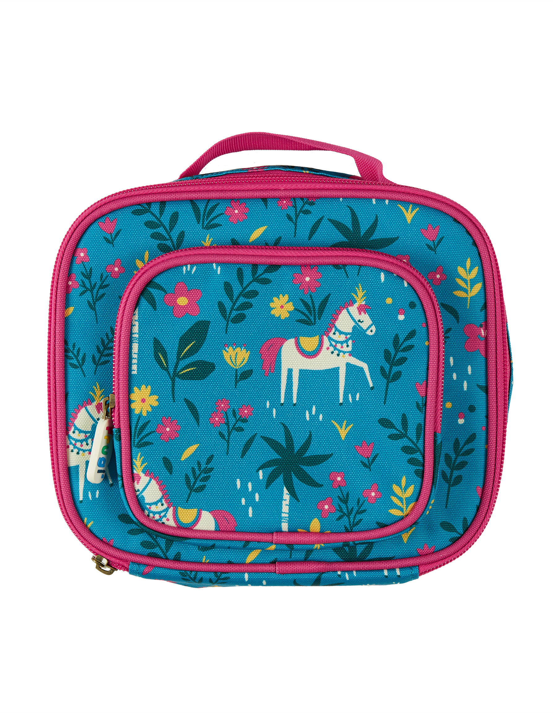 Frugi Pack A Snack Lunch Bag, Teal Indian Horse