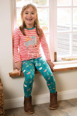 Frugi Libby Printed Farmyard Leggings