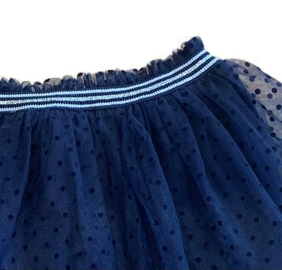 Petit Bateau Navy Net Party Skirt