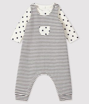 Petit Bateau 2 piece Stripes and Stars Dungarees