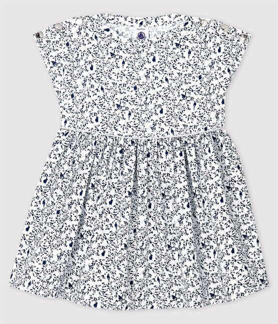 Petit Bateau Short-Sleeved Poplin Dress