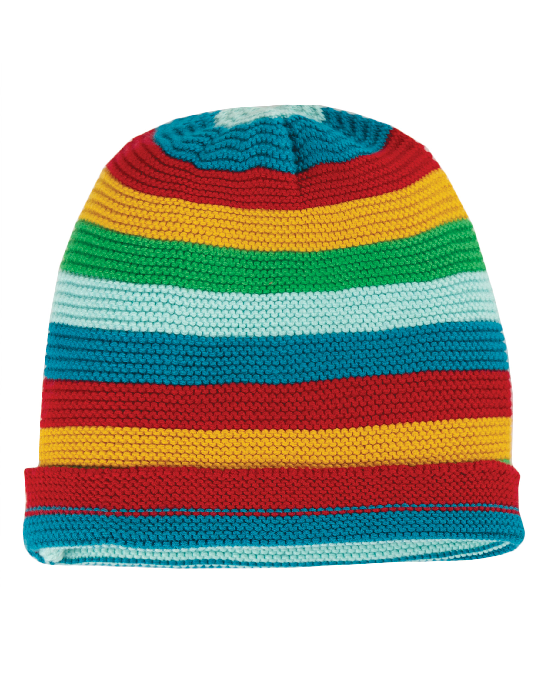 Frugi Harlow Knitted Rainbow Hat