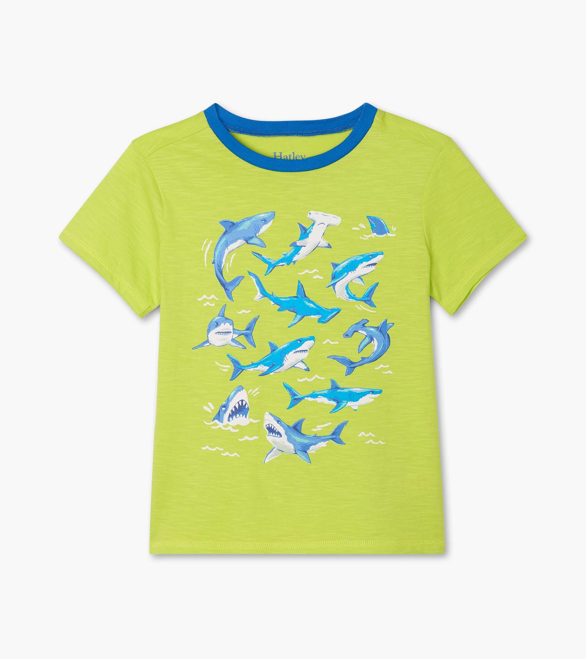 Hatley Deep-Sea Sharks Graphic T Shirt