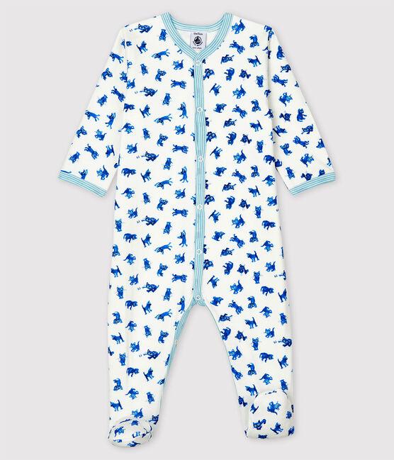 Petit Bateau Kitten Tube Knit Sleepsuit