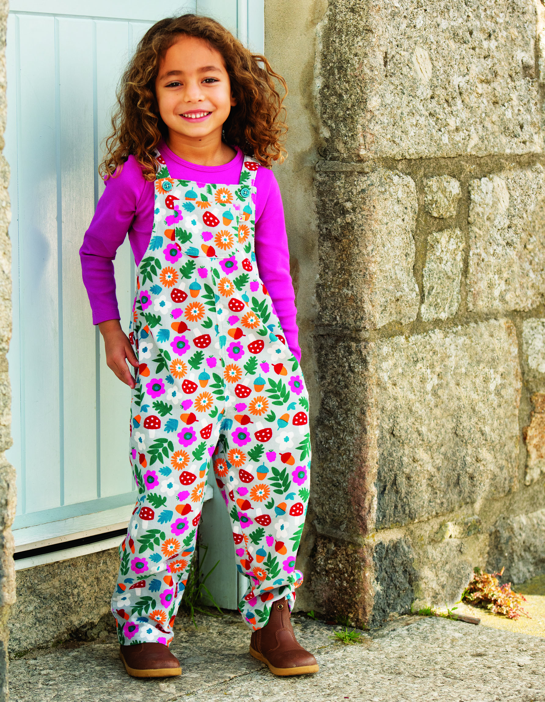 Frugi Neptune Cord Dungaree Tin Roof Lost Words