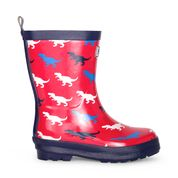 Hatley T Rex Shiny Welly Boots