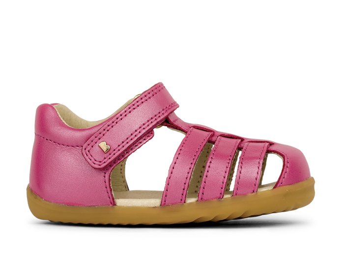Bobux SU Jump Closed Toe Sandal Strawberry Shimmer