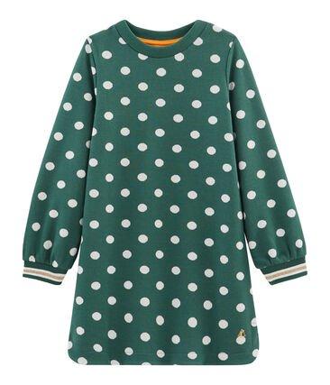 Petit Bateau Green Spot Dress