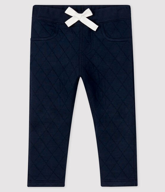Petit Bateau Navy Quilted Joggers