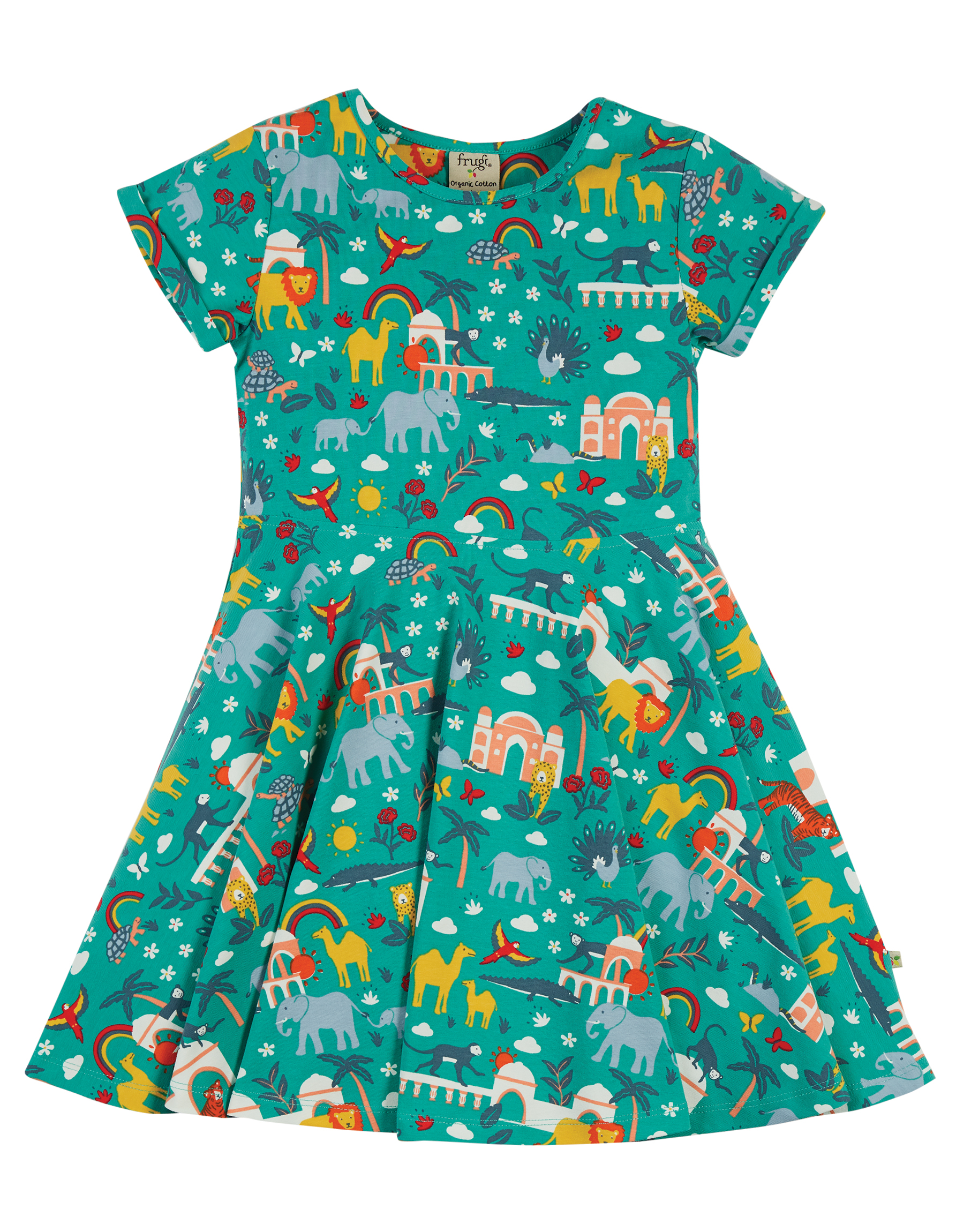 Frugi Spring Skater Dress, Jewel India