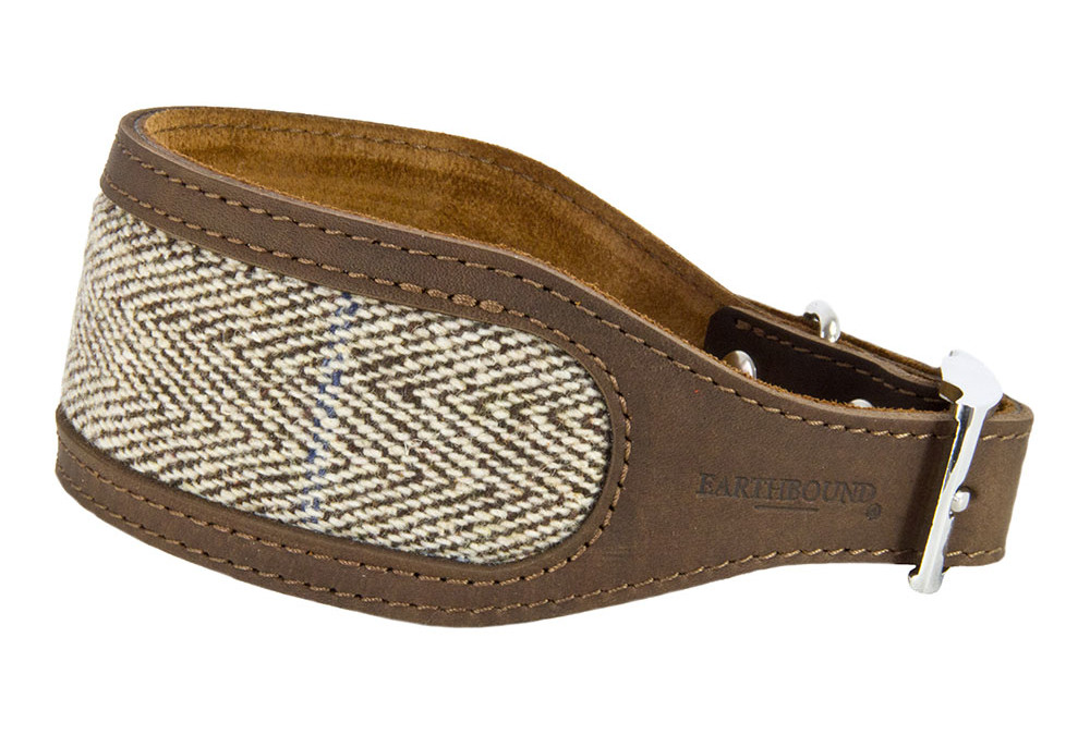 Earthbound Leather & Tweed Whippet Collars