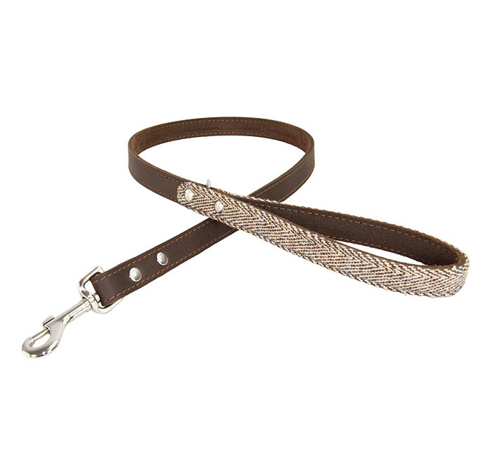 Earthbound Leather & Tweed Leads