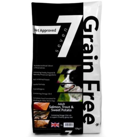 Small 2KG Seven Grain Free Working Dog Food