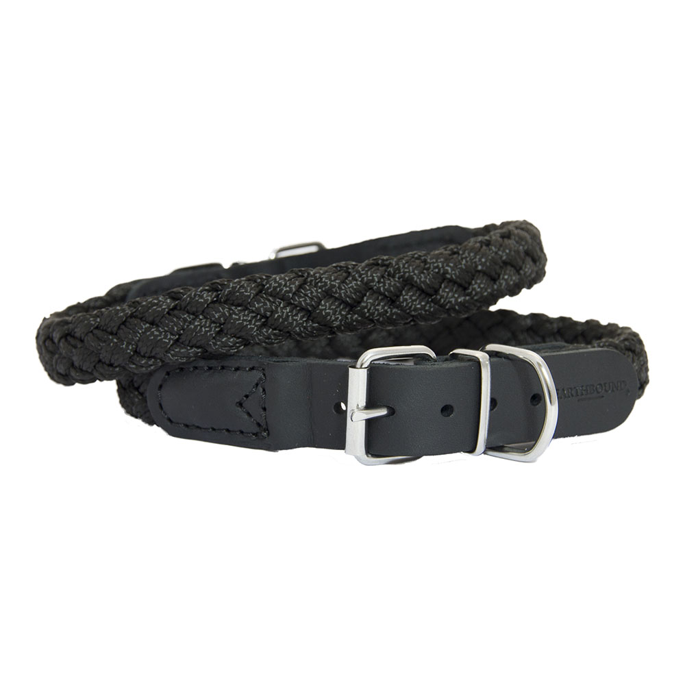 Earthbound Braided Nylon/Leather Collars