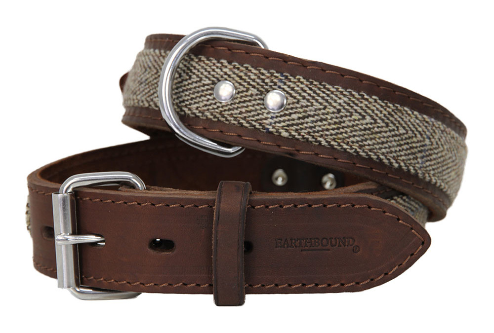 Earthbound Ox Leather & Tweed Collars