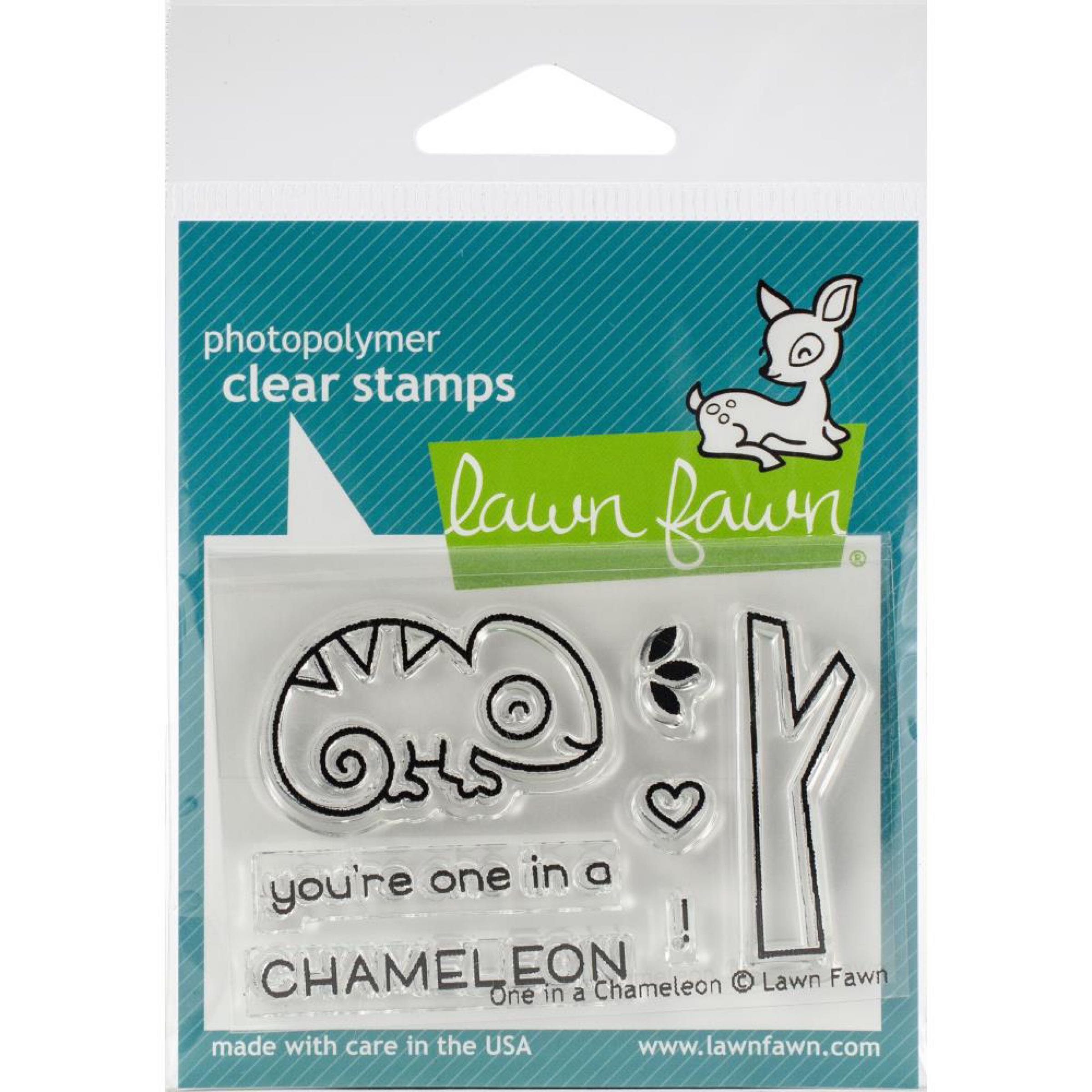 Lawn Fawn Clear Stamps / Klar Stempler - One in a Chameleon
