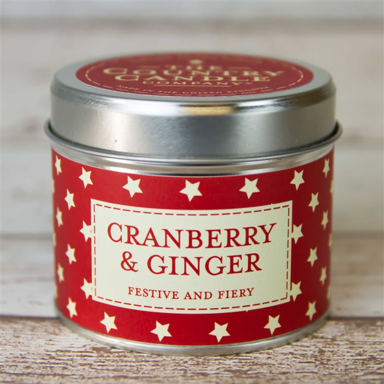 'Cranberry & Ginger' Candle in a Tin
