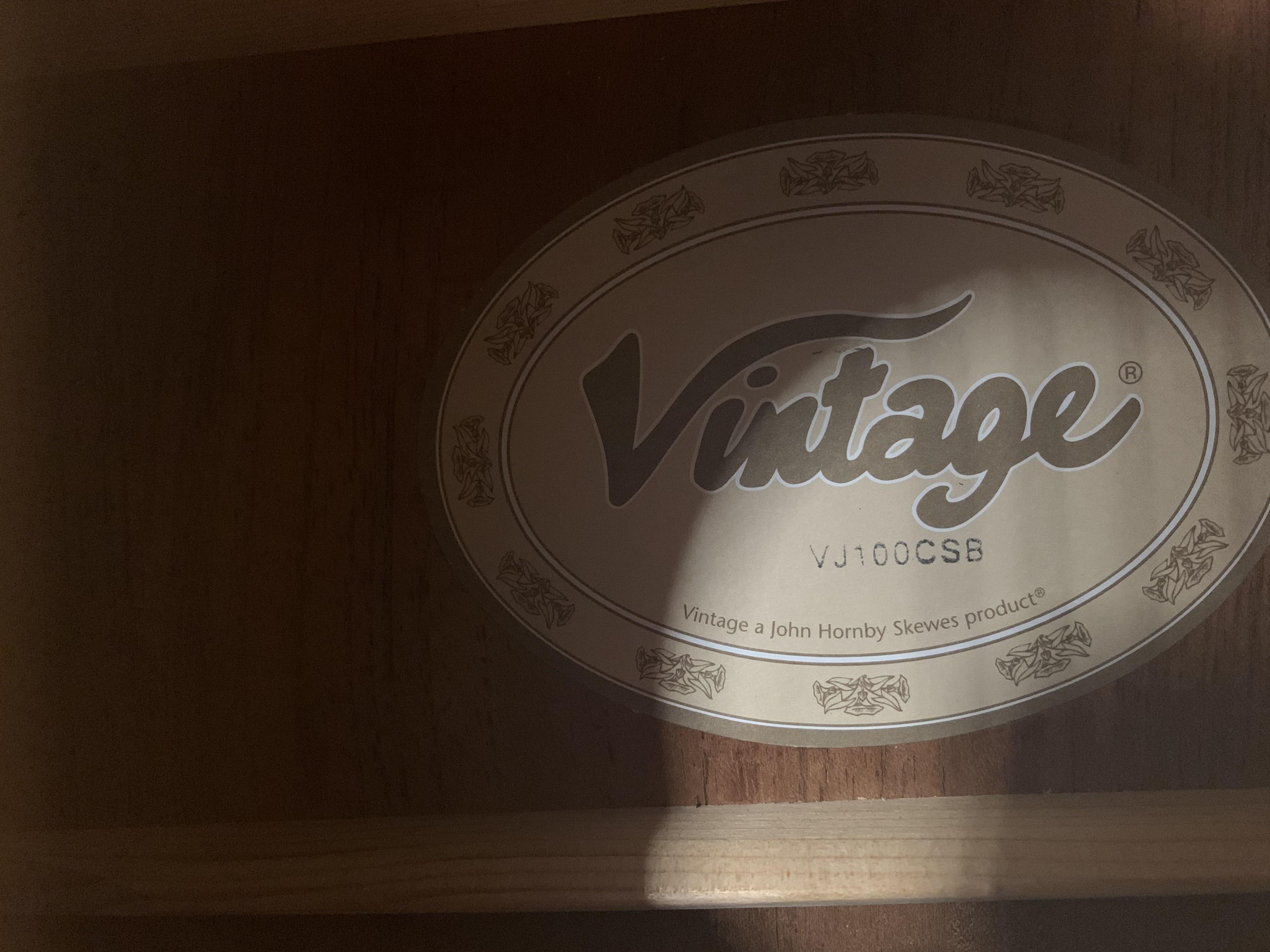 Vintage VJ100CSB Acoustic Guitar