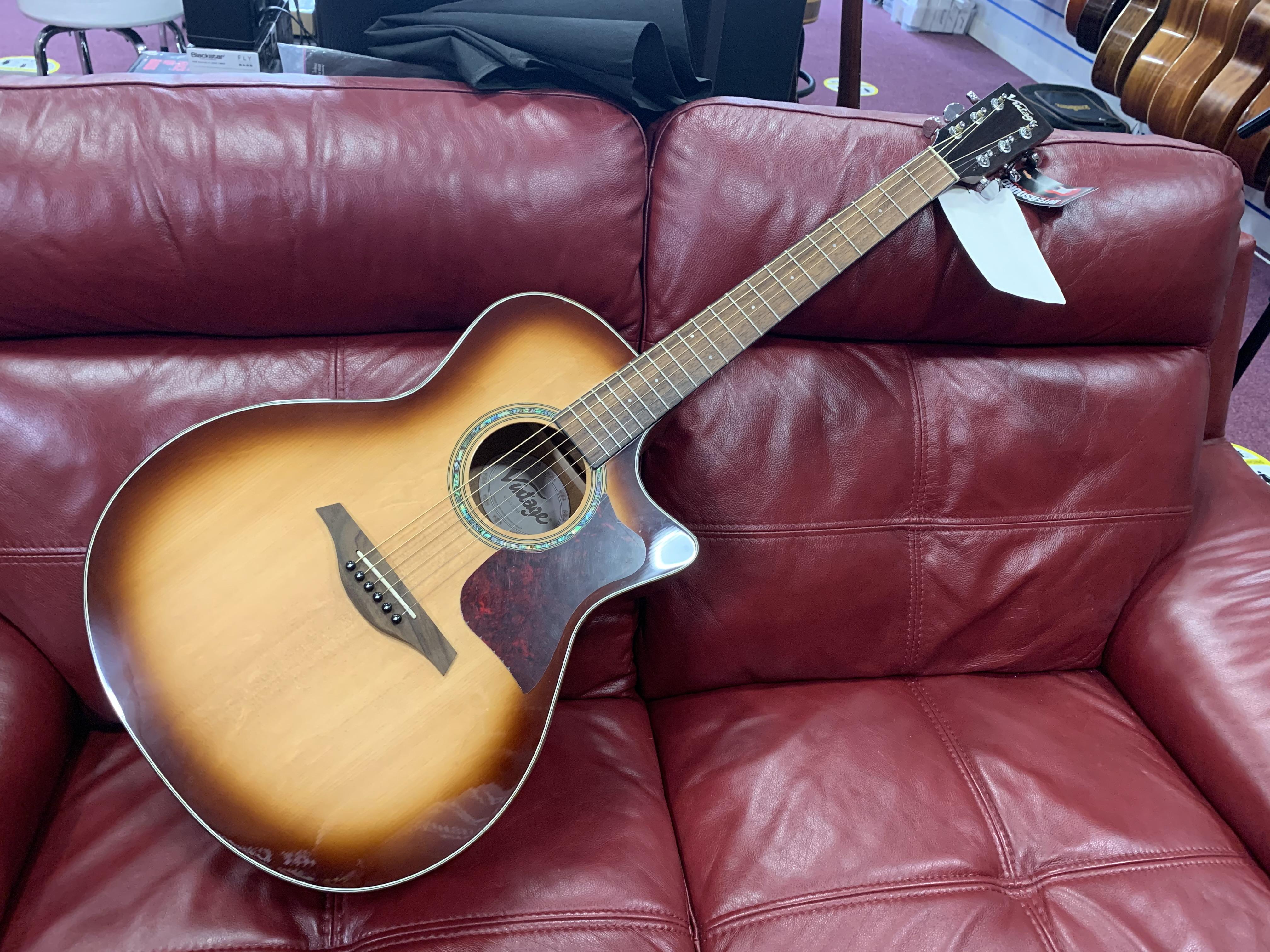 Vintage VGA900SB Electro Acoustic Guitar (In Shop £379)