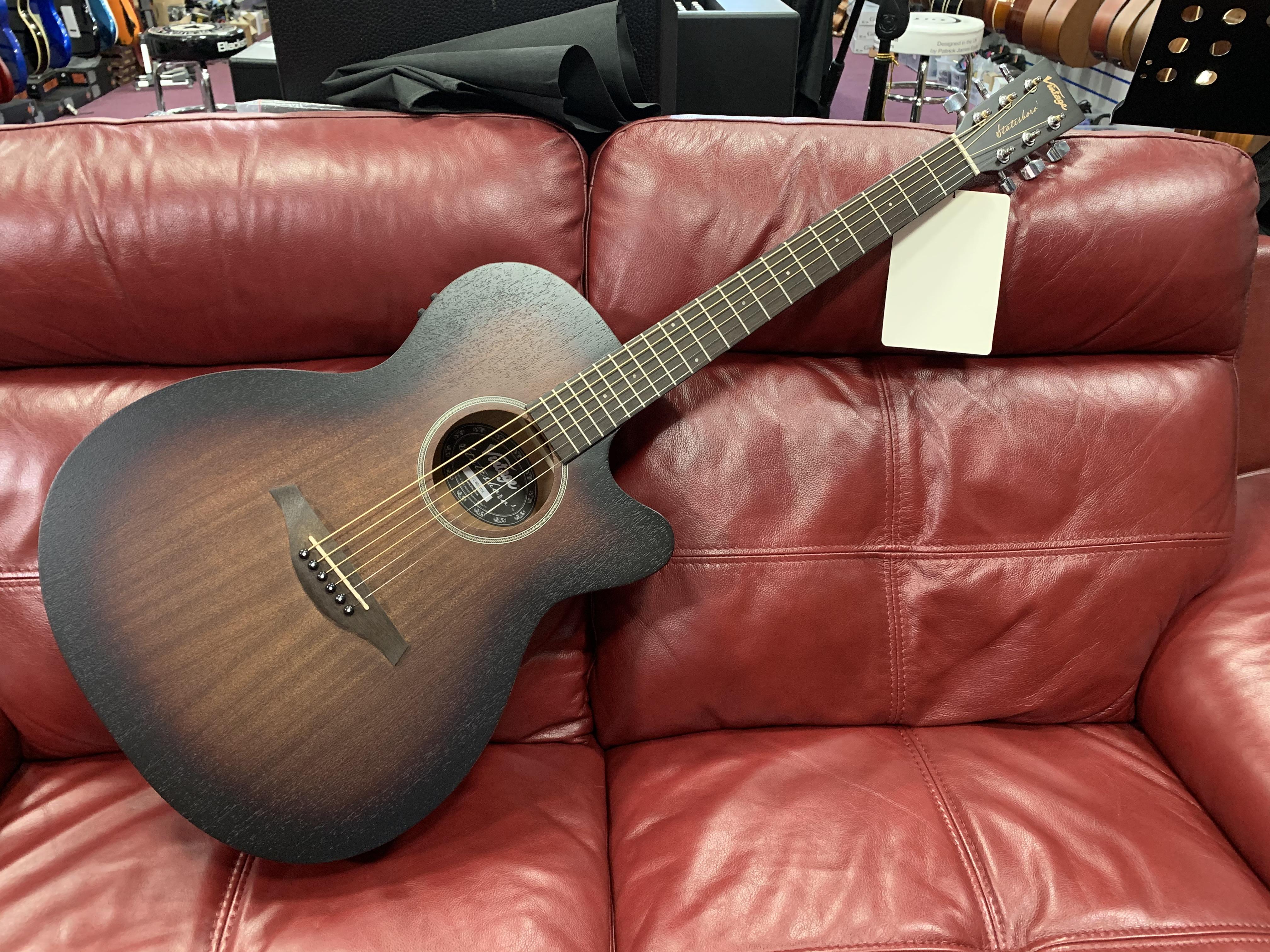 Vintage Statesboro VE660WK Cutaway Electro Acoustic Guitar (RRP £159)