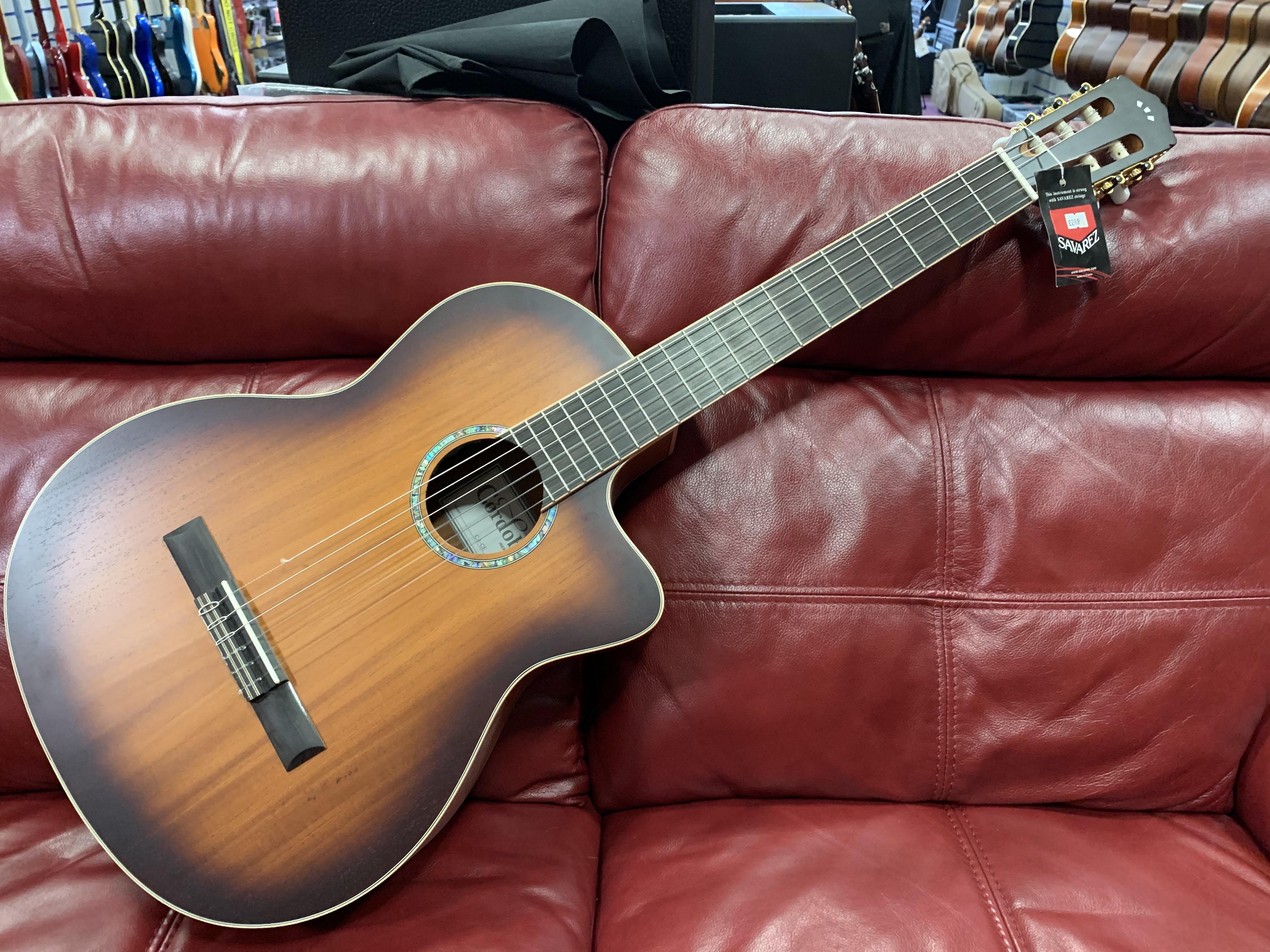 Cordoba C4-CE Edgeburst Solid Mahogany Electro Classical Guitar