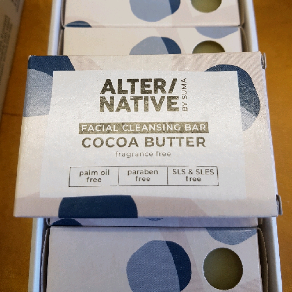 Cocoa Butter facial cleansing bar. palm oil free