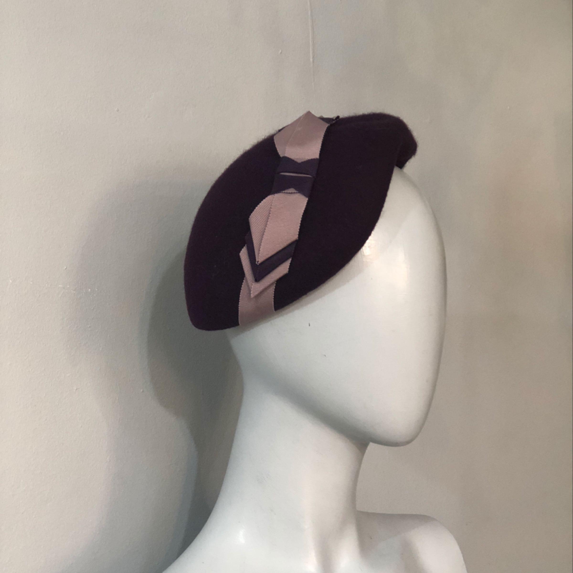 Purple beret vintage style