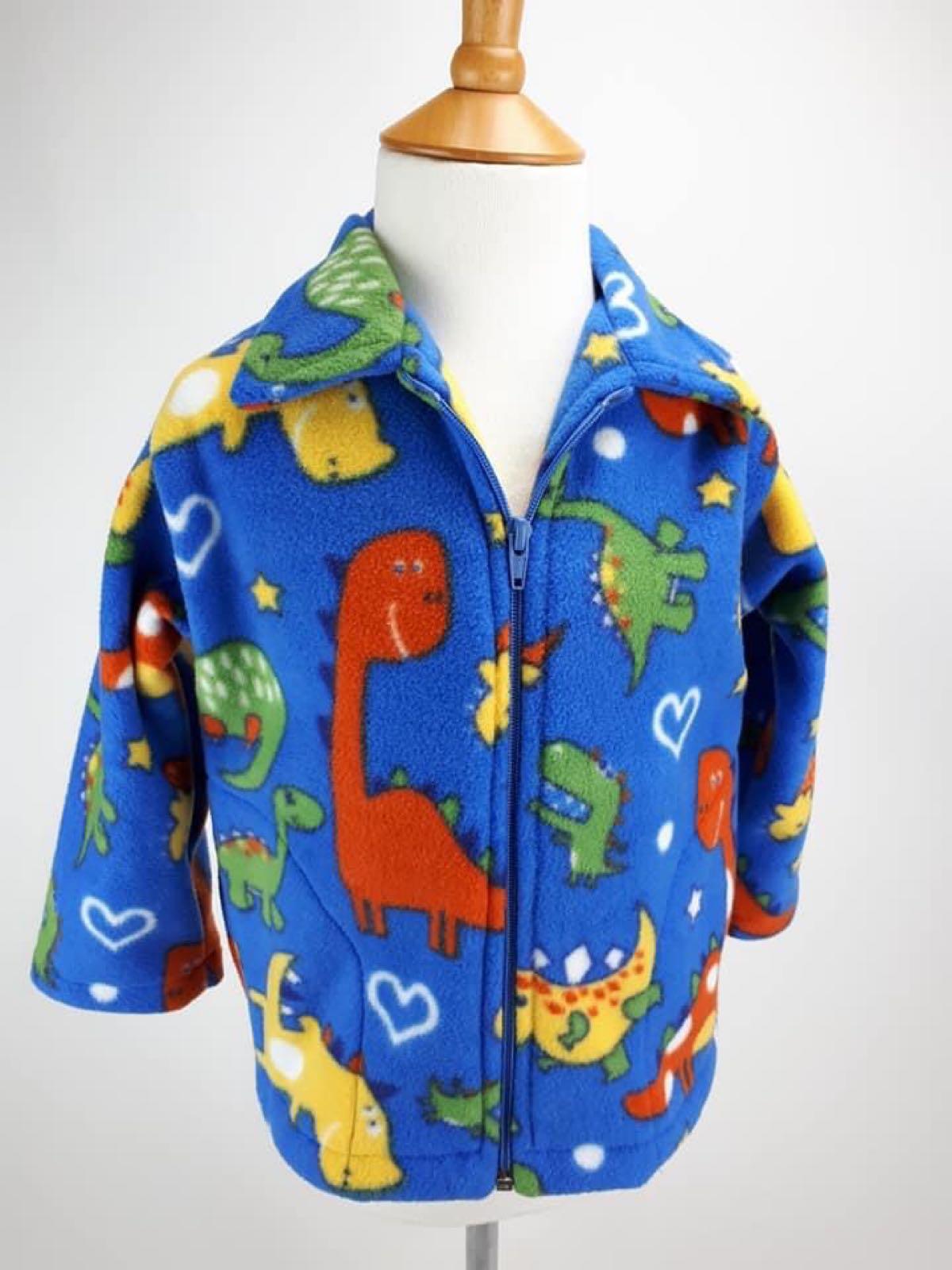 Blue Dinosaurs Jacket