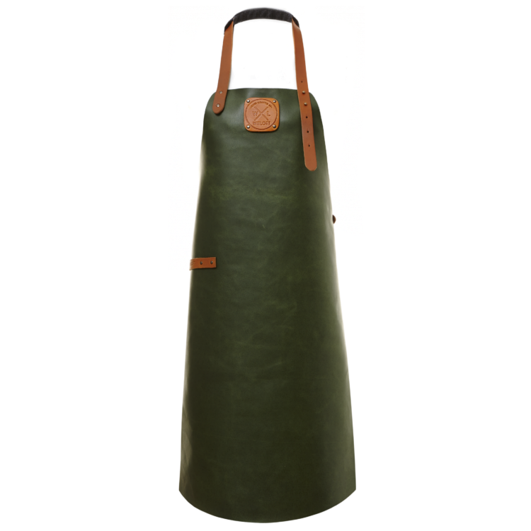 Witloft läderförkläde, Grön / Cognac (1495 kr)