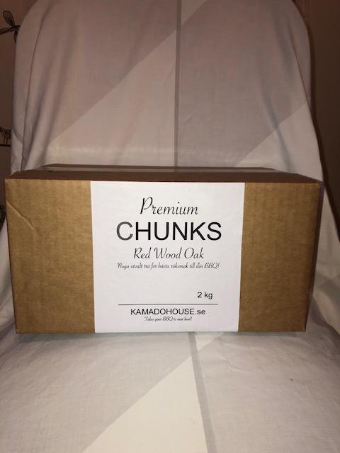 Red Wood Oak Chunks 2 kg